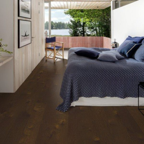 Паркетная доска Karelia Oak story light smoked docklands brown 1-s
